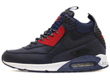 Кроссовки Мужские Nike Air Max 90 Sneakerboot Dark Blue Red White ( с Мехом)