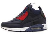 Кроссовки Мужские Nike Air Max 90 Sneakerboot Dark Blue Red White ( с Мехом)