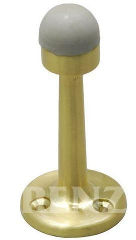 Фурнитура - Ограничитель Дверной настенный Renz DS 77, цвет латунь блестящая