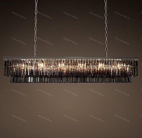 1920S ODEON SMOKE GLASS FRINGE RECTANGULAR Restoration Hardware 68070850