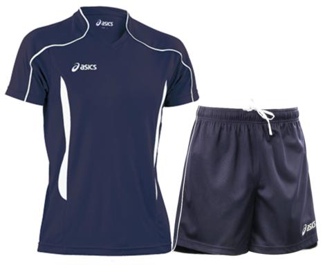 Мужская волейбольная форма Asics Volo Zone (T604Z1 5001-T605Z1 0050) темно-синяя