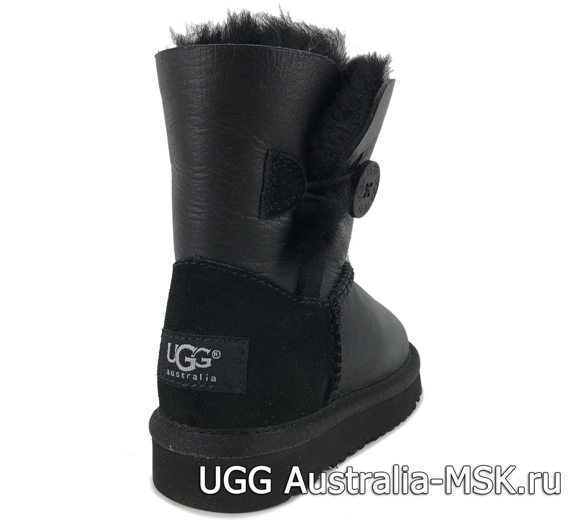 UGG Kids Balley Button Metallic Black