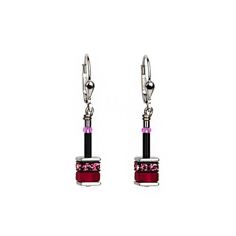 Серьги Coeur de Lion 4409/20-1500 цвет розовый, чёрный