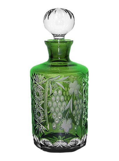 Декантеры Декантер для виски 700мл Ajka Crystal Grape зеленый dekanter-dlya-viski-700ml-ajka-crystal-grape-temno-zelenyy-vengriya.jpg