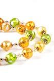 Ожерелье Белла золотисто-салатового цвета