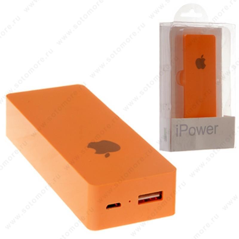 Аккумулятор внешний универсальный iPower 6000 мАч 1xUSB оранжевый