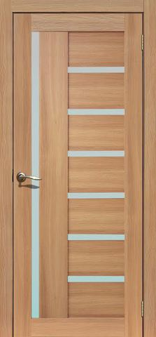 Дверь La Stella 217, стекло матовое, цвет дуб сантьяго, остекленная