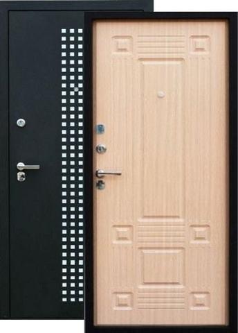 Дверь входная Зевс Z-5 Италия, 2 замка, 1,5 мм  металл, (чёрный шёлк+венге светлый)