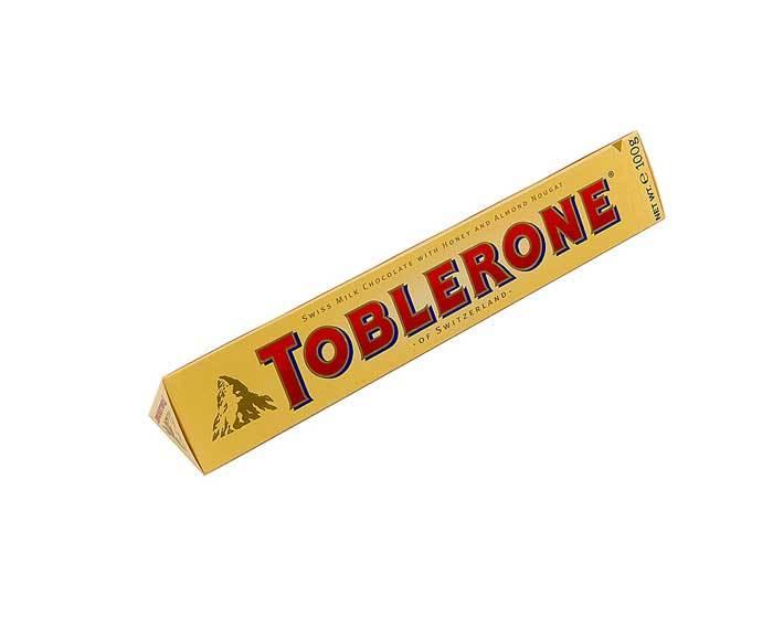 Молочный шоколад Toblerone с нугой