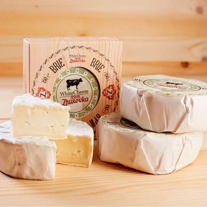 Сыр Бри White Cheese from Zhukovka /картон/ 150 гр