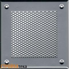 Решетка 150*150 хром, кружок