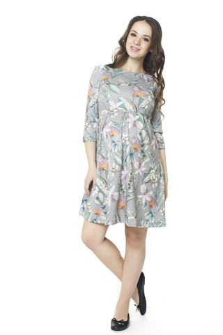 Платье 07352 серый
