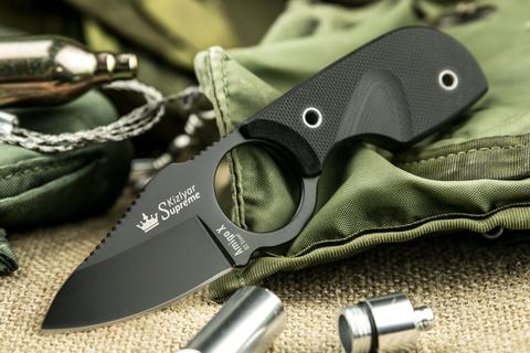 Шейный нож Amigo X Black D2