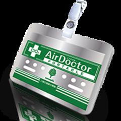 Air Doctor бейдж для взрослых на прищепке + Ленточка - ВирусСтопер в виде бэйджика (1 мес)