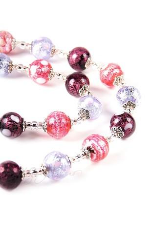 Ожерелье Белла розово-фиолетового цвета