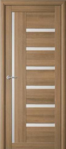 Дверь La Stella 217, стекло матовое, цвет тиковое дерево, остекленная