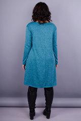 Альбина. Платье на каждый день больших размеров. Аквамарин.