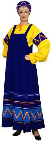 Русский народный костюм Ульяна синий