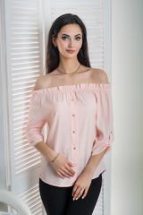 Мика. Молодежная оригинальная летняя блуза. Пудра