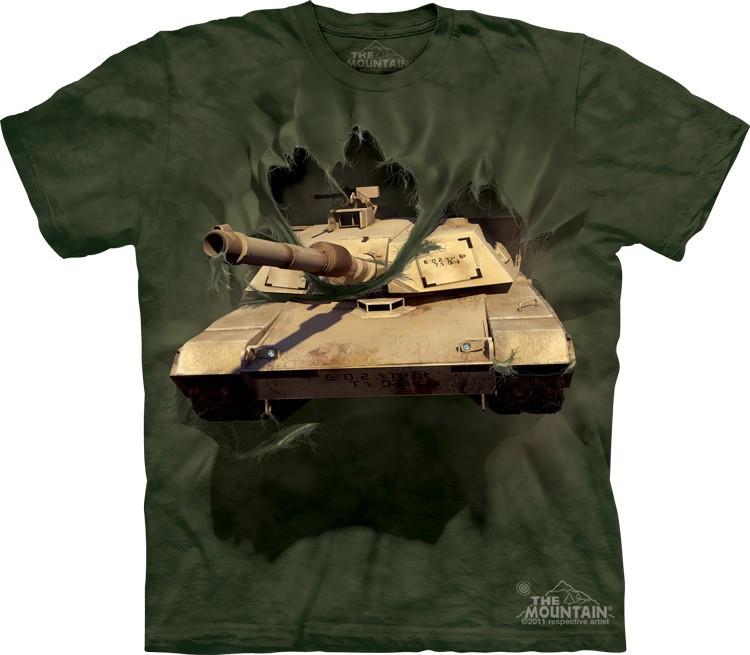 _Футболка Mountain с изображением прорывающегося танка  - M1 Abrams Tank Breakthru