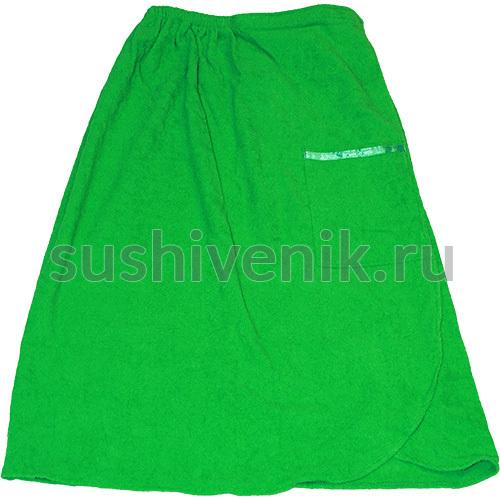 Парео женское махровое (зеленое)