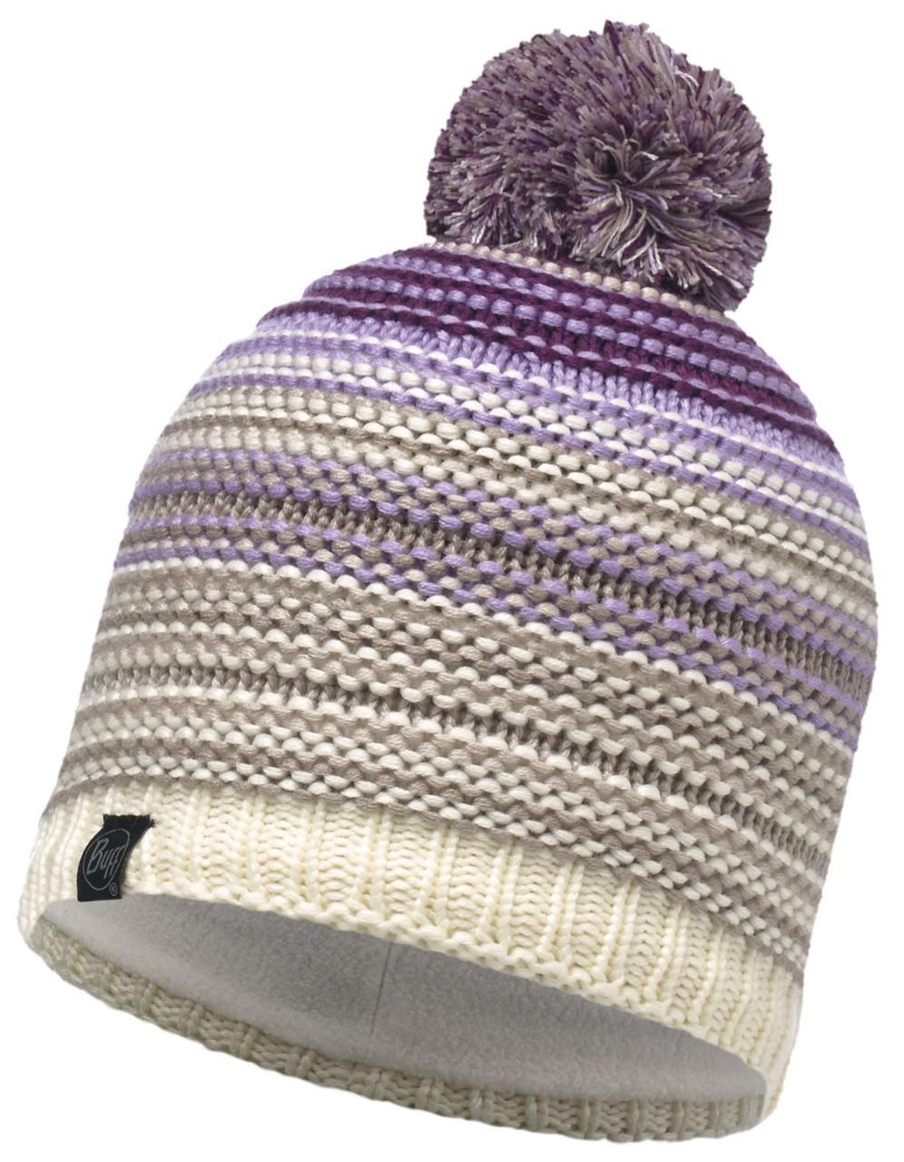 Шапки с помпоном Вязаная шапка с флисовой подкладкой Buff Neper Violet 113586.619.10.00.jpg