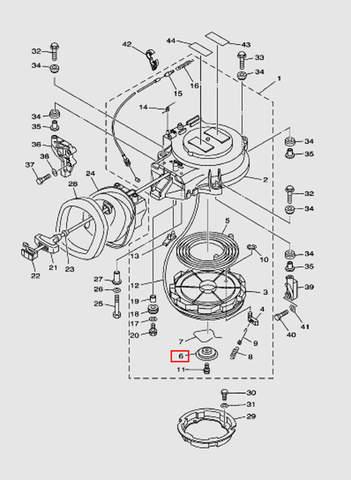 Стопор-упор для лодочного мотора T40 Sea-PRO (7-6)