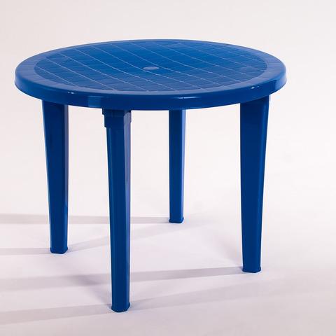 Стол круглый 900х900х740 мм. Цвет: Синий