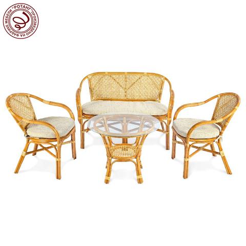 Комплект кофейный Ellena-4 (стол+2 кресла+диван)