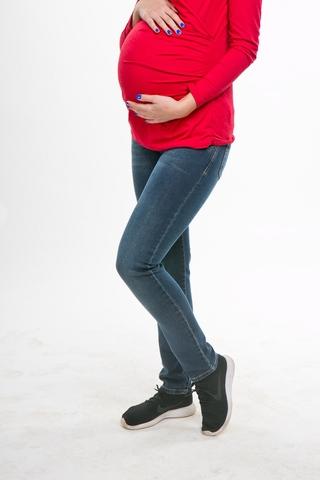 Джинсы для беременных (SLIM) 09813 синий