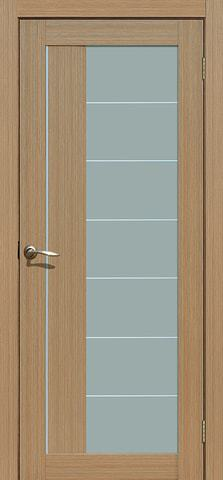 Дверь La Stella 219, стекло матовое, цвет тиковое дерево, остекленная