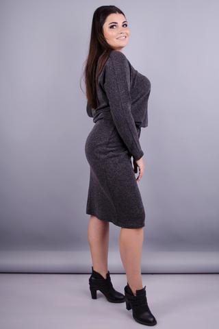 Моніка. Сукня для жінок з пишними формами. Сірий.