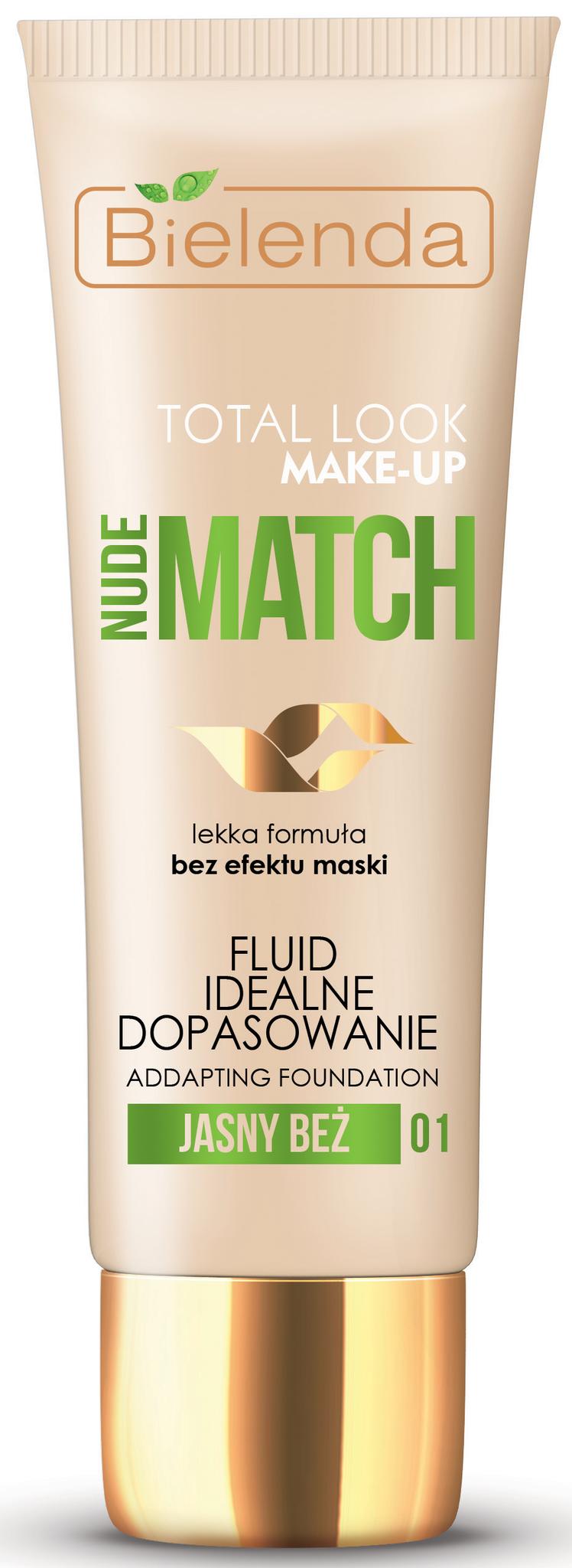 TOTAL LOOK MAKE-UP Тональный крем адаптирующийся под цвет кожи NUDE MATCH - светло бежевый 30гр