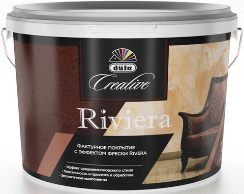 Dufa Creative Riviera/Дюфа Креатив Ривьера Фактурное покрытие с эффектом фрески