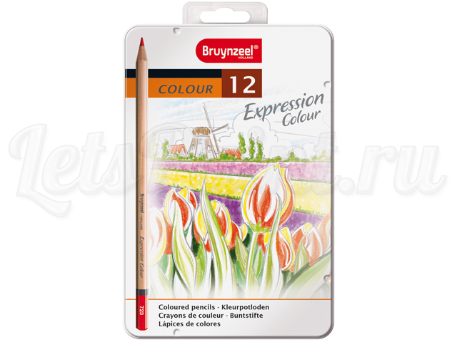 Набор из 12 цветных карандашей Bruynzeel Expression Colour, в метал. кор.