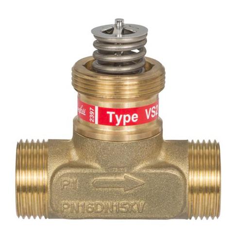Клапан регулирующий латунь VS 2 Danfoss 065F2111 Ру16 Ду 15 Kvs=0,25 Tmax 130°С НР/НР G3/4