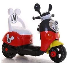 Электромобиль детский скутер трехколесный Микки Маус