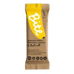 Батончик фруктово-ореховый, Bite, Спорт, Арахис и банан, 45 г.