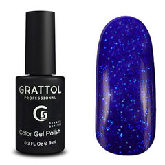 Grattol, Гель-лак Luxury Stones № 002, Sapphire, 9 мл