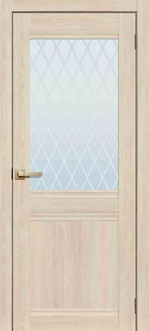 Дверь La Stella 290, стекло матовое, цвет ясень латте, остекленная