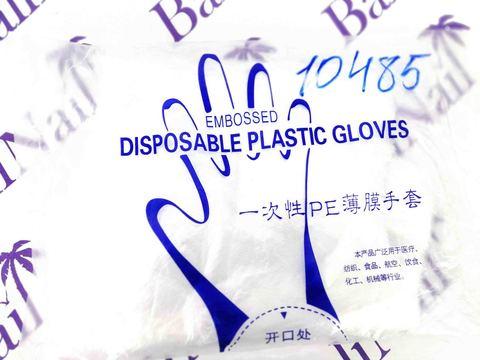 Перчатки полиэтиленовые одноразовые, 100 шт
