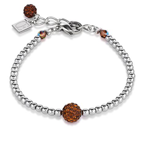 Браслет Coeur de Lion 0112/30-1100 цвет коричневый, серебряный
