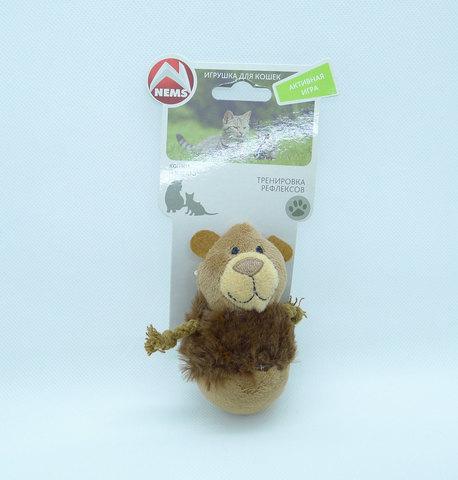 NEMS игрушка для кошек - медведь-неваляшка с чипом, 9 см