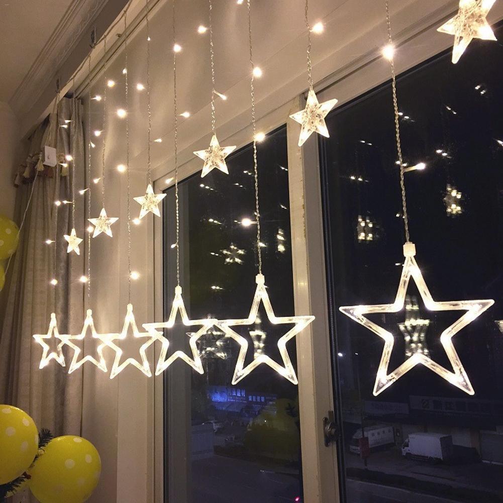 Новинки Светодиодная гирлянда-штора Five-Pointed Star star-212.jpg