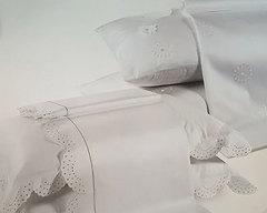 Постельное белье 2 спальное евро Caleffi Isabella с вышивкой