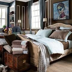 Постельное белье 2 спальное евро макси Casual Avenue Hampton дым-голубое