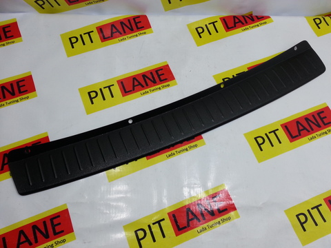 Накладка на задний бампер пластиковая Лада Гранта  седан.