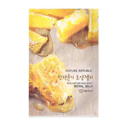 NATURE REPUBLIC Тканевая маска с экстрактом пчелиного маточного молочка Real Nature Mask Sheet Royal Jelly