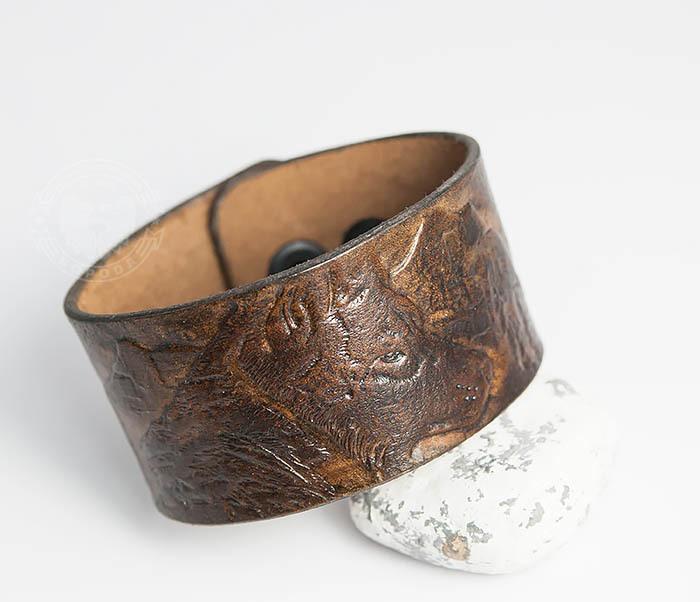 Boroda Design, Мужской браслет «Полярный Волк» из натуральной кожи все цены