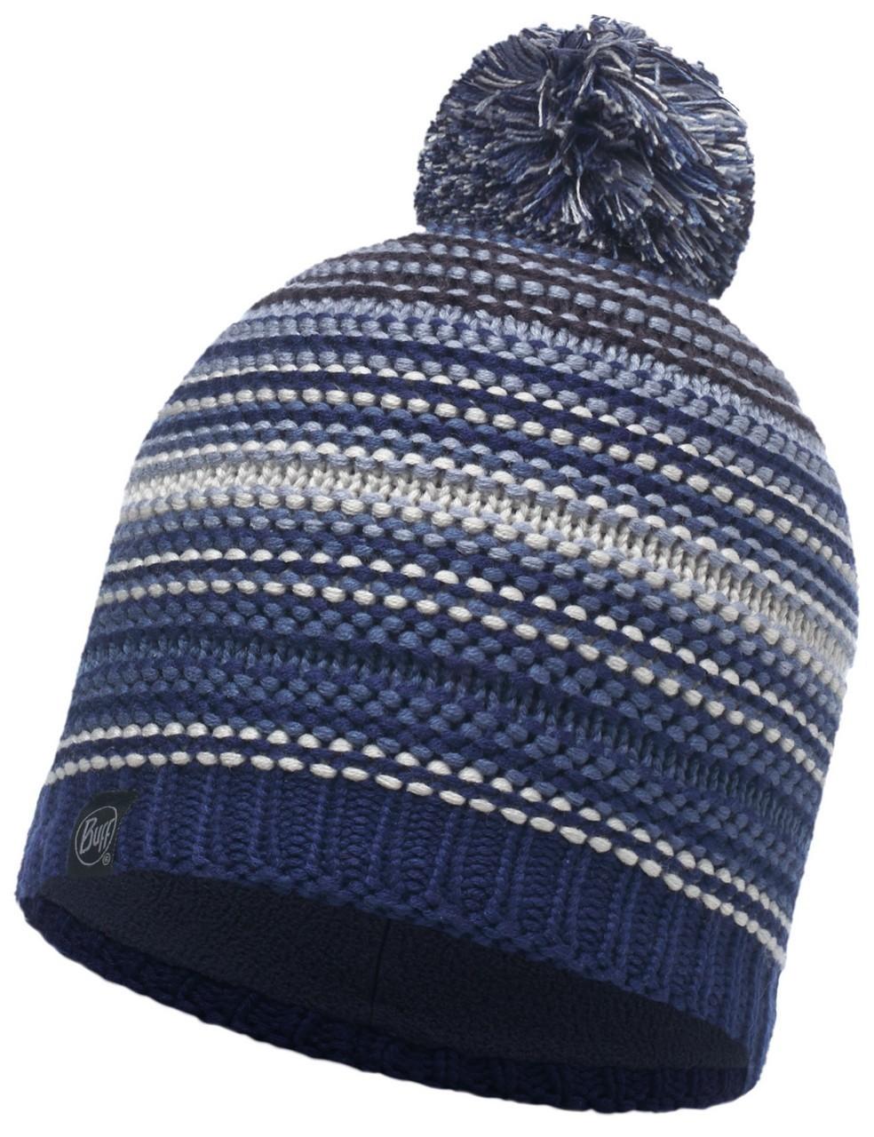 Вязаная шапка с флисовой подкладкой Buff Neper Blue Ink